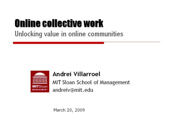 Unlocking value in online communities